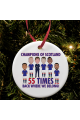 Rangers 55 Times Champions Of Scotland 2021 Christmas Tree Decoration