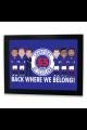 Rangers 55 Times Champions Of Scotland 2021 Framed Print